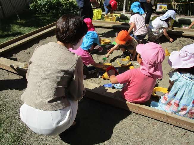 市内幼稚園視察